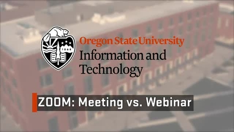 Thumbnail for entry Get To Know Zoom - Webinars vs. Meetings