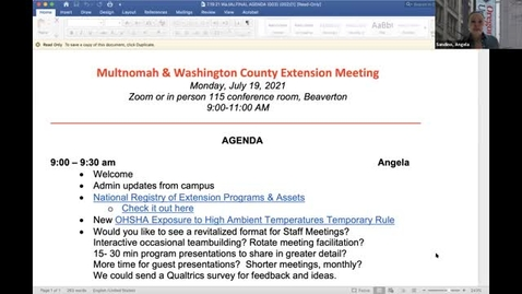 Thumbnail for entry Start and end edited Multnomah & Washington County All Staff meeting