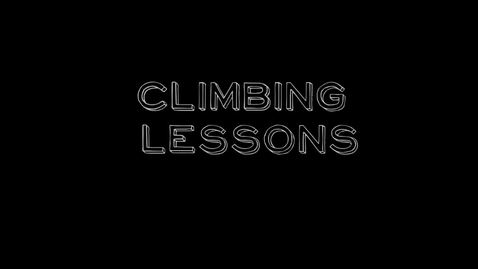 Thumbnail for entry Stacey Higdon- Climbing Lessons