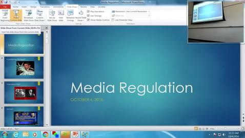 Thumbnail for entry Media Regulation: Professor Tannahill's Lecture of October 4, 2016