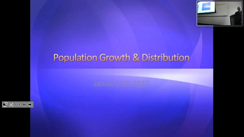 Thumbnail for entry Population Growth and Distribution I: Professor Tannahill's Lecture of January 19, 2017