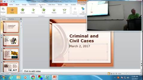Thumbnail for entry Criminal and Civil Cases:  Professor Tannahill's Lecture of March 2, 2017