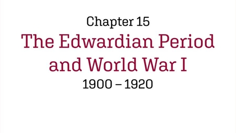 Thumbnail for entry Fashion History / The Edwardian Period and World War I