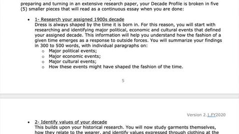 Thumbnail for entry FHOL Summer 2020 - Decade Profile Walk-Through