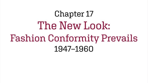 Thumbnail for entry Fashion History / The New Look / 1947-1960