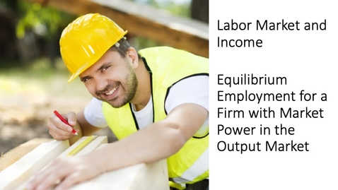 Thumbnail for entry Labor Market and Income - The Equilibrium Employment Level for a Firm with Market Power in the Output Market