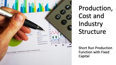 Thumbnail for entry Costs, Production and Industry Structure - Short Run Production Function with Fixed Capital