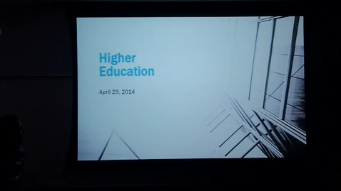 Thumbnail for entry Higher Education: Professor Tannahill's Lecture of April 29, 2014