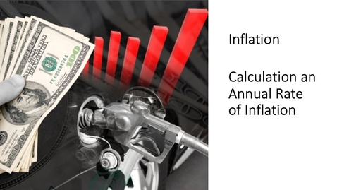 Thumbnail for entry Inflation - Calculating an Annual Rate of Inflation