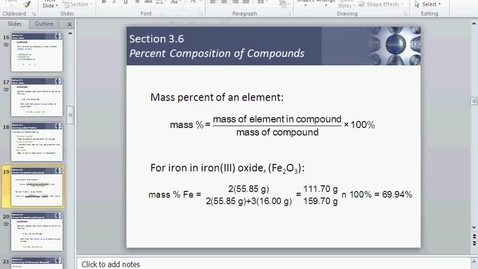 Thumbnail for entry % composition of a compound