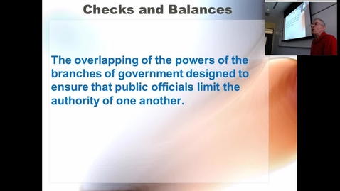Thumbnail for entry Checks and Balances: Professor Tannahill's Lecture of September 26, 2017