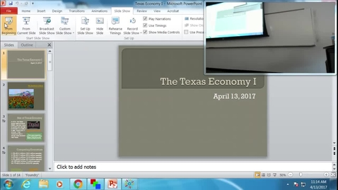 Thumbnail for entry Texas Economy I: Professor Tannahill's Lecture of April 13, 2017