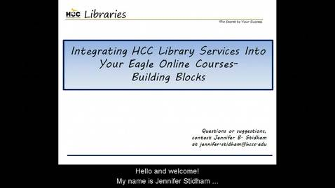 Thumbnail for entry Adding HCC Library Services to Your EO Classes - HTML Blocks