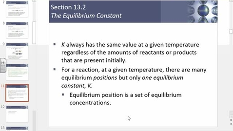 Thumbnail for entry equilibrium,equilibrium constant Q and direction of equilibrium solving for equilibrium concentrations.wmv