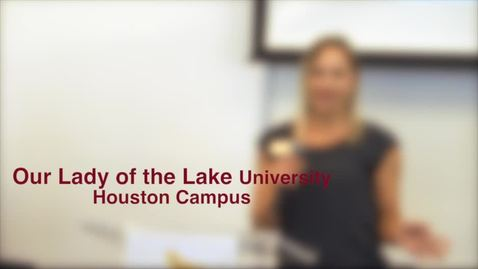 Thumbnail for entry Lady of the Lake University presentation