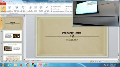 Thumbnail for entry Property Taxes: Professor Tannahill's Lecture of March 28, 2017