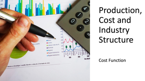 Thumbnail for entry Costs, Production and Industry Structure - Cost Function