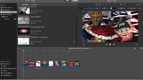 Thumbnail for entry How to Make a Slideshow in Imovie