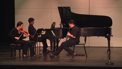Thumbnail for entry New Music for Clarinet, Violin, and Piano Concert