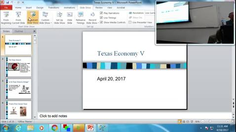 Thumbnail for entry Texas Economy V: Professor Tannahill's Lecture of April 18, 2017