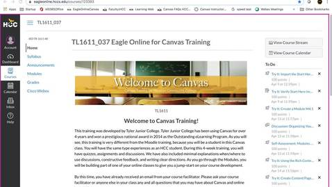 Thumbnail for entry Canvas Training - Importing Start Here template to Development Shell