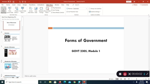 Thumbnail for entry Forms of Government, Aug. 2020