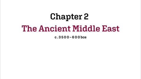 Thumbnail for entry Fashion History / Ancient Middle East / 3,500-600BCE