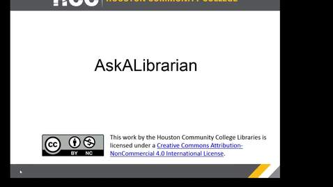 Thumbnail for entry HCC Libraries - Ask A Librarian