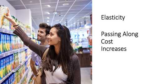 Thumbnail for entry Elasticity - Passing Along Cost Increases