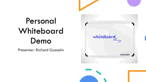 Thumbnail for entry Personal White Board Demo