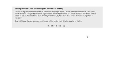 Thumbnail for entry Solving Problems with the Saving and Investment Identity