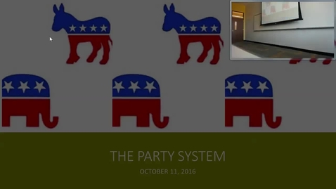 Thumbnail for entry Party System: Professor Tannahill's Lecture of October 11, 2016