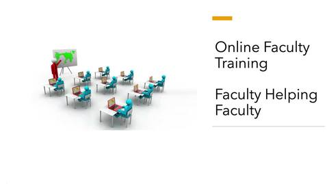 Thumbnail for entry Faculty Video Lounge Training - Getting Started