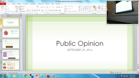 Thumbnail for entry Public Opinion: Professor Tannahill's Lecture of September 29, 2016