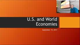 Thumbnail for entry U.S. and World Economies: Professor Tannahill's Lecture of September 19, 2017