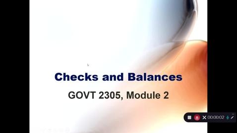 Thumbnail for entry Checks and Balances, September 2020