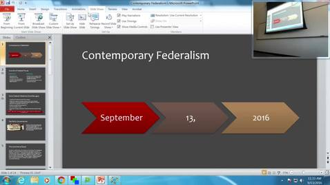 Thumbnail for entry Contemporary Federalism: Professor Tannahill's Lecture of September 13, 2016
