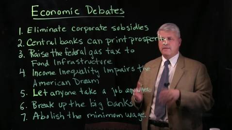 Thumbnail for entry Economic Debate