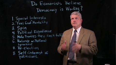 Thumbnail for entry Do Economists Believe Democracy is Working