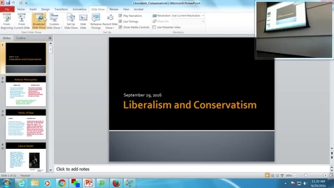 Thumbnail for entry Liberalism and Conservative: Professor Tannahill's Lecture of September 29, 2016