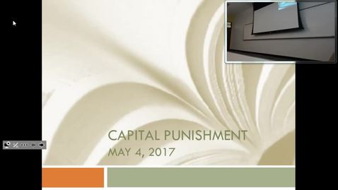 Thumbnail for entry Capital Punishment: Professor Tannahill's Lecture of May 4, 2017