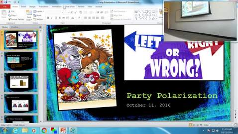 Thumbnail for entry Party Polarization: Professor Tannahill's Lecture of October 11, 2016