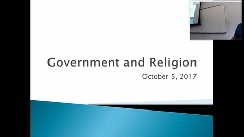 Thumbnail for entry Government and Religion: Professor Tannahill's Lecture of October 5, 2017
