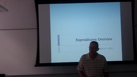 Thumbnail for entry Texas Expenditures Overview: Professor Tannahill's Lecture of April 24, 2014