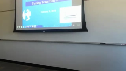 Thumbnail for entry Turning Texas Blue II: Professor Tannahill's Lecture of February 9, 2016