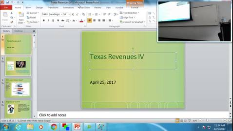Thumbnail for entry Texas Revenues IV: Professor Tannahill's Lecture of April 25, 2017