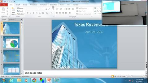 Thumbnail for entry Texas Revenues II: Professor Tannahill's Lecture of April 20, 2017