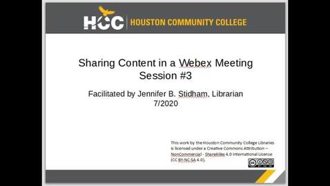 Thumbnail for entry Sharing Content in a Webex Meeting - Session #3