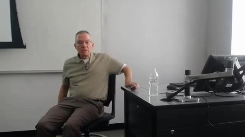Thumbnail for entry City Politics II: Professor Tannahill's Lecture of March 31, 2016