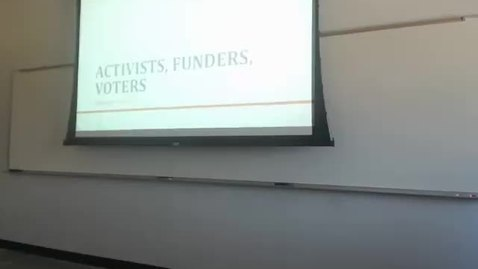 Thumbnail for entry Party Activists, Funders, and Voters: Professor Tannahill's Lecture of February 4, 2016